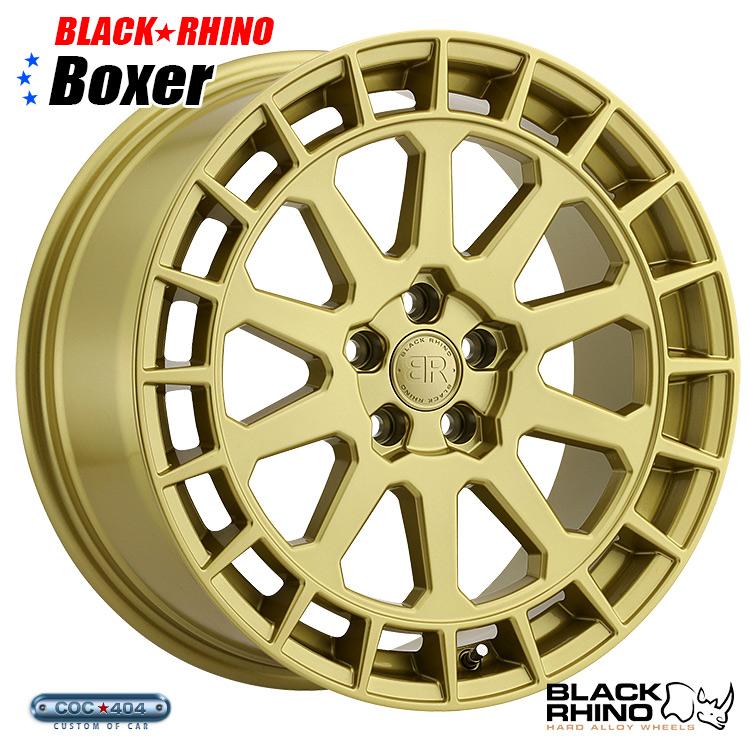 【18インチ8J】BLACK RHINO Boxer (ブラック ライノ ボクサー) グロスゴールド 1本