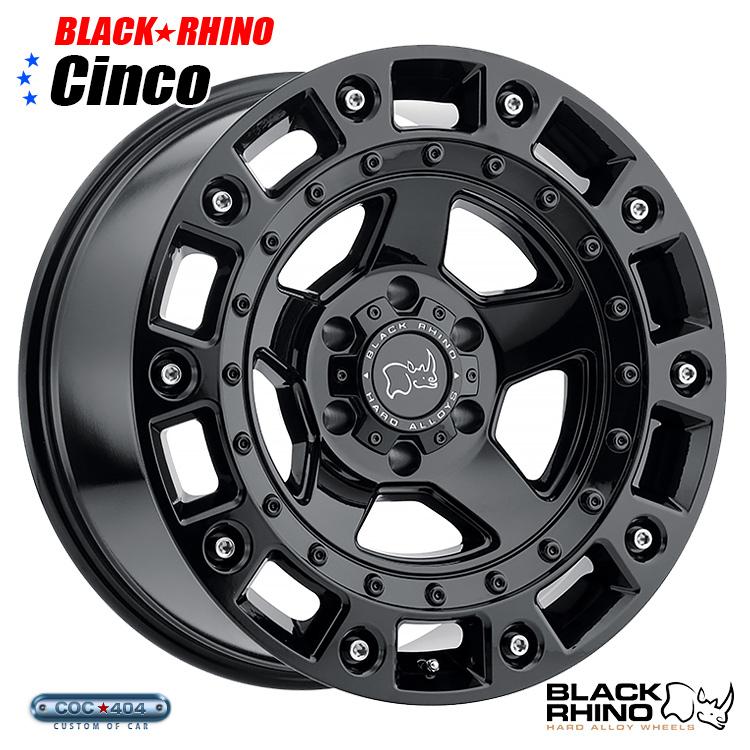 【17インチ9.5J】BLACK RHINO Cinco (ブラック ライノ シンコ) グロスブラック 1本