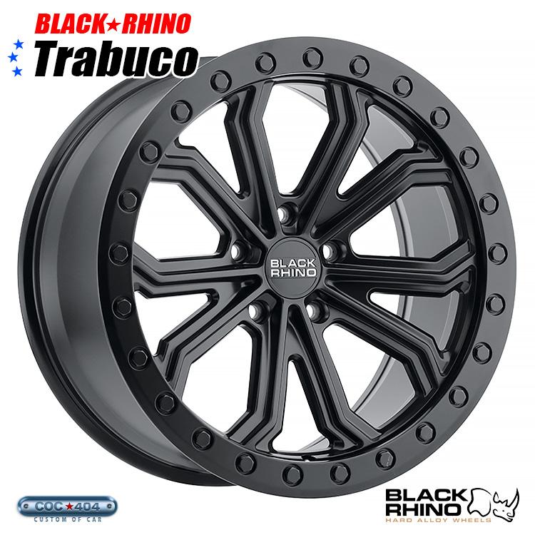 【22インチ】BLACK RHINO Trabuco (ブラック ライノ トラブーコ) マットブラック 1本