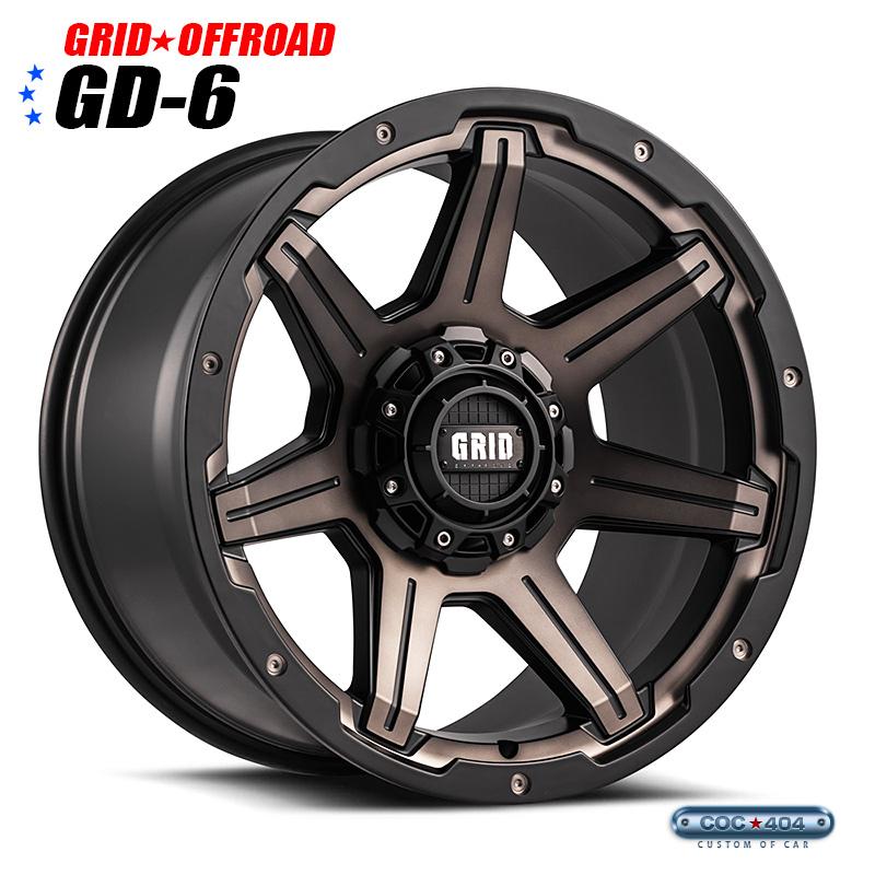 【20インチ9J】Grid Offroad GD-6 ブロンズダークティント&マットブラック 1本