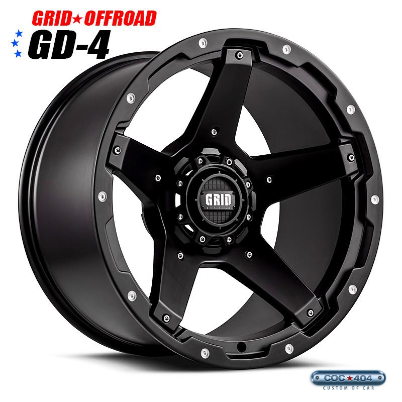 【18インチ】Grid Offroad GD-4 マットブラック 1本