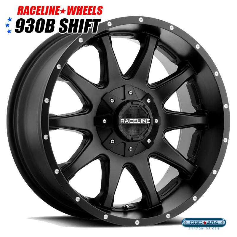 【18インチ】RACELINE 930B Shift (レースライン シフト) サテンブラック 1本