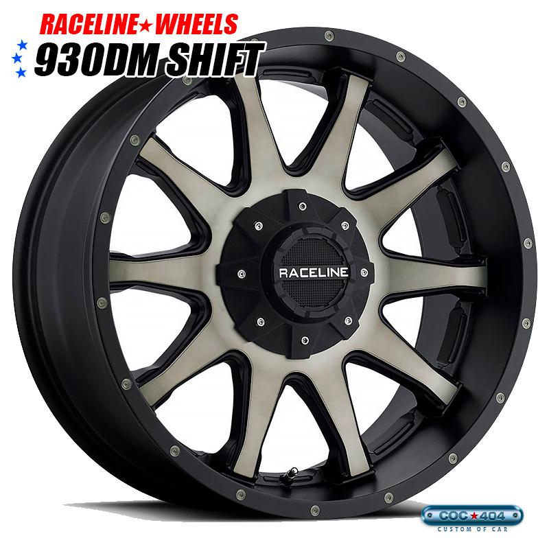 【18インチ】RACELINE 930DM Shift (レースライン シフト) ダークティント&ブラックリップ 1本
