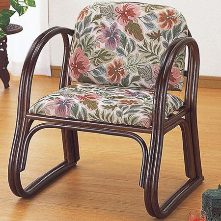 籐製アームチェア ミドル 籐 ラタン おしゃれ アジアン 家具 S124