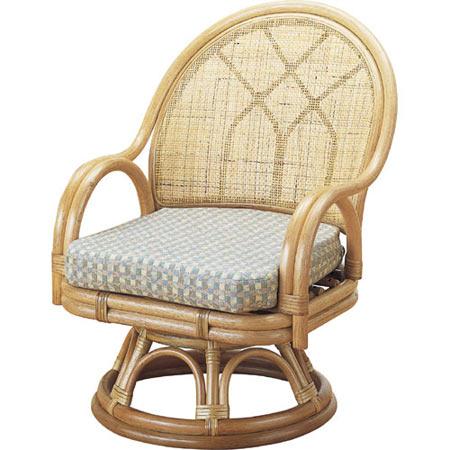 籐回転座椅子 ミドル 籐 ラタン おしゃれ アジアン 家具 S366