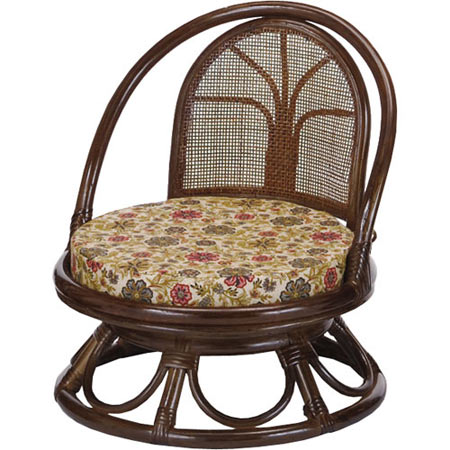籐回転座椅子 ミドル 籐 ラタン おしゃれ アジアン 家具 S512B