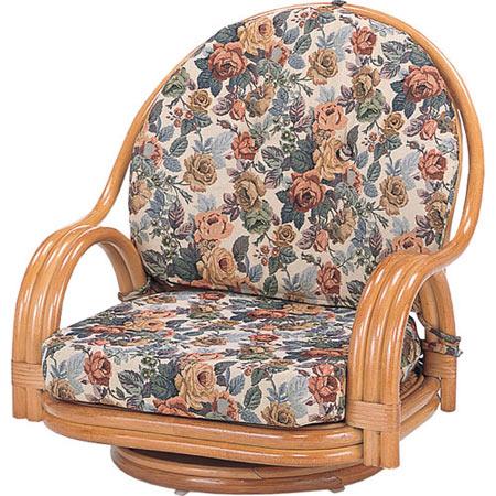 籐回転座椅子 ロー 籐 ラタン おしゃれ アジアン 家具 S581