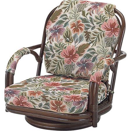 籐回転座椅子 ロー 籐 ラタン おしゃれ アジアン 家具 S651B