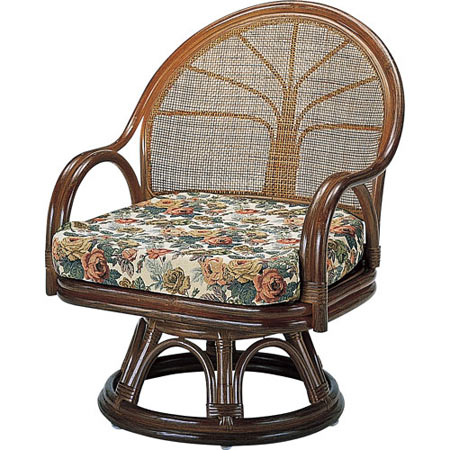 籐回転座椅子 ミドル 籐 ラタン おしゃれ アジアン 家具 S3005B