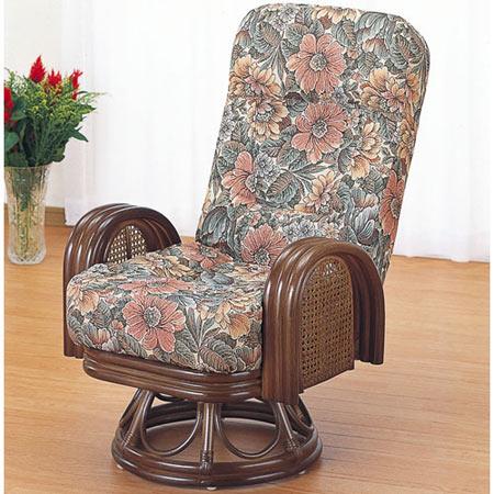 籐リクライニング回転座椅子 ハイ 籐 ラタン おしゃれ アジアン 家具 S679