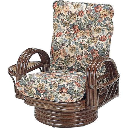 籐リクライニング回転座椅子 ミドル 籐 ラタン おしゃれ アジアン 家具 S698