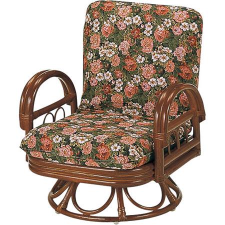 籐リクライニング回転座椅子 ミドル 籐 ラタン おしゃれ アジアン 家具 S704B