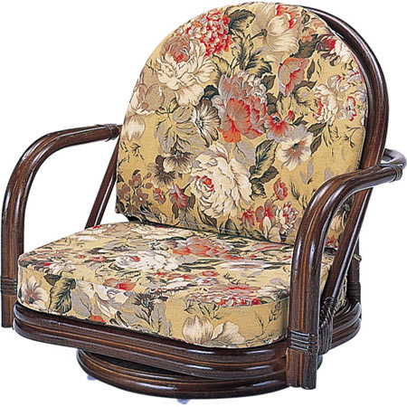 籐回転座椅子 ロー 籐 ラタン おしゃれ アジアン 家具 S775B