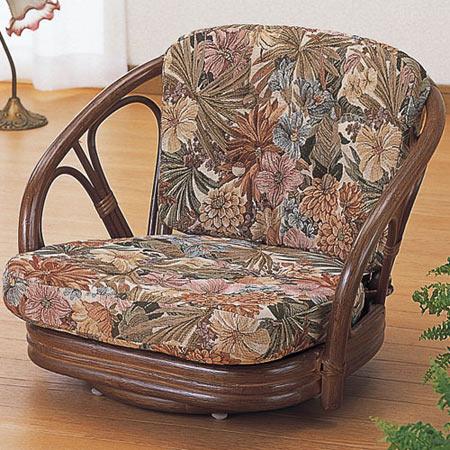 籐回転座椅子 ロー 籐 ラタン おしゃれ アジアン 家具 TK701