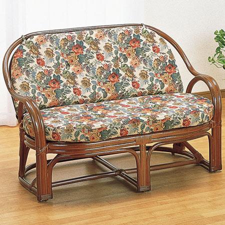 籐製ソファー 2人掛け 幅108 奥行き63 高さ72 籐 ラタン おしゃれ アジアン 家具 ソファー ソファ Y450B