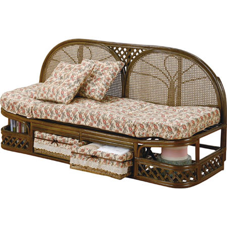 籐製カウチソファー 2人掛け 幅145 籐 ラタン おしゃれ アジアン 家具 Y712B
