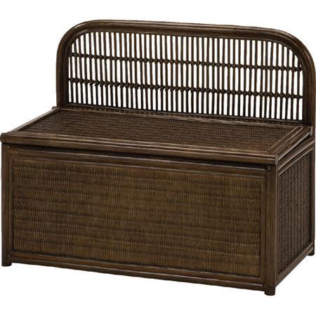 籐収納ベンチボックス 幅80cm 籐 ラタン おしゃれ アジアン 家具 Y883B
