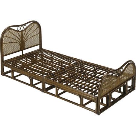 籐製すのこベッド シングル ベッドフレーム 籐 ラタン おしゃれ アジアン 家具 Y916B