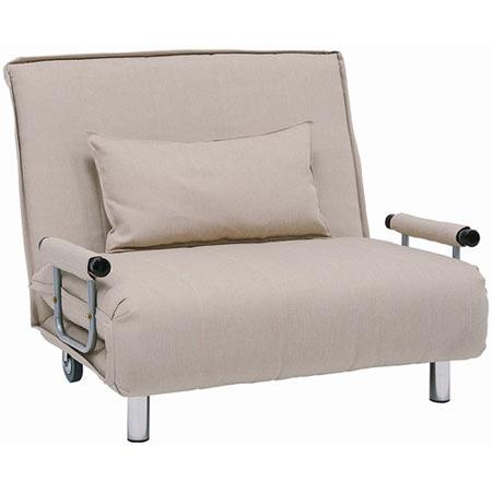 1人掛け折りたたみリクライニングソファベッド 幅101cm 布張 グラーテ ベージュ