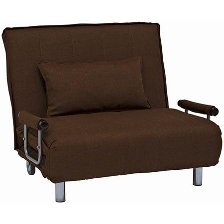 1人掛け折りたたみリクライニングソファベッド 幅101cm 布張 グラーテ ブラウン
