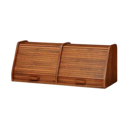 ブレッドケース 2列 ジャバラ扉 カルマ 幅70 奥行き25 高さ27 木製 完成品