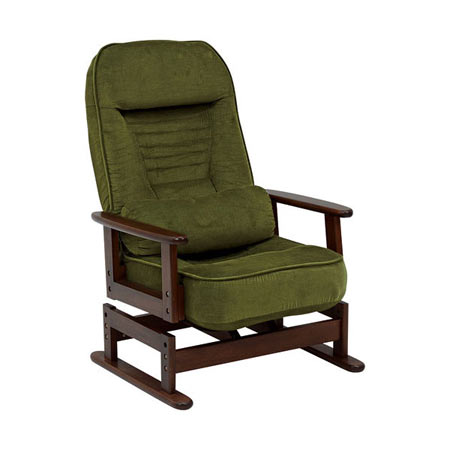 リクライニング高座椅子 グリーン