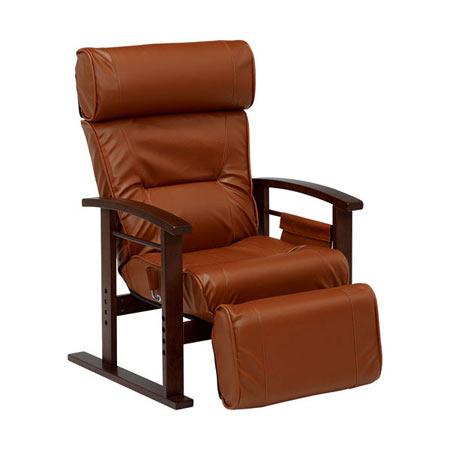リクライニング高座椅子 ブラウン