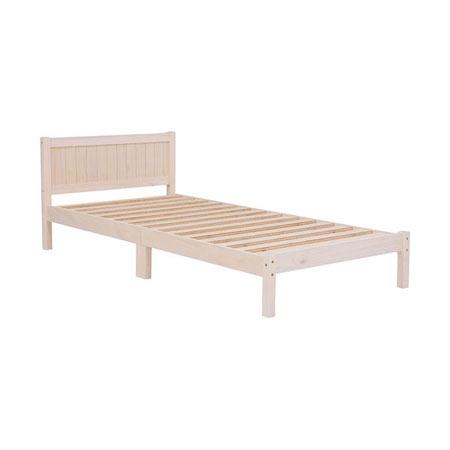 ベッド(ホワイトウォッシュ) MB-5102S-WS ホワイトウォッシュ