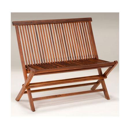チーク材天然木製ガーデンベンチ