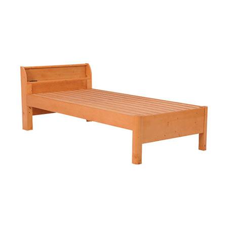 高さ3段階調整すのこベッド【フレームのみ】シングル ナチュラル