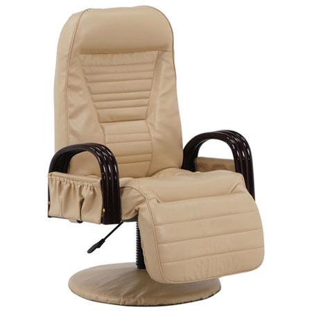回転リクライニング高座椅子 アイボリー LZ-4129IV
