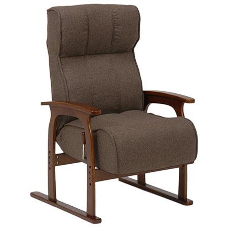 高さ3段階調節リクライニング高座椅子 LZ-4303BR ブラウン LZ-4303BR