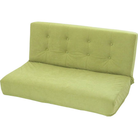 厚みのある リクライニング座椅子 W ダブル 幅広 2人掛け スエード調 オリーブグリーン ■ 2人掛け 二人掛け 2人用 二人用 2P リクライニング 座椅子 座イス 座いす チェアー チェア atumi-w-gr