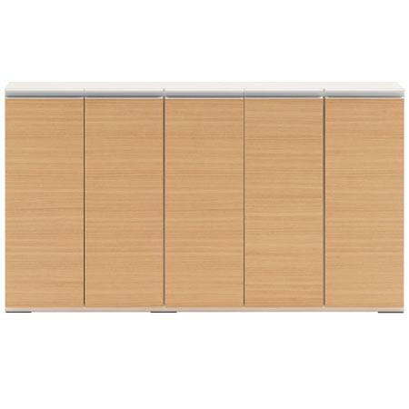 薄型リビングキャビネット戸棚 幅151 奥行き31 高さ84 エリーゼアッシュ 日本製 完成品 lba-150