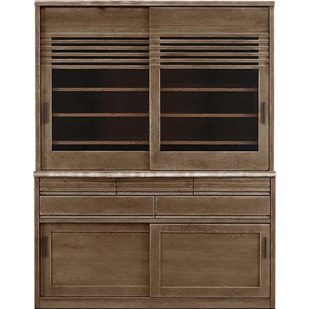 ダイニングボード キッチンボード 陣 幅150 奥行き49 高さ195 ブラックアッシュ 木製食器棚 木製 無垢 日本製 国産 完成品 食器棚 キッチンボード jin-db150