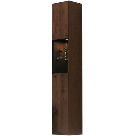 完成品 日本製 スリムキャビネット(右開き) ムサシ 幅29cm 高さ180cm ウォールナット ◆