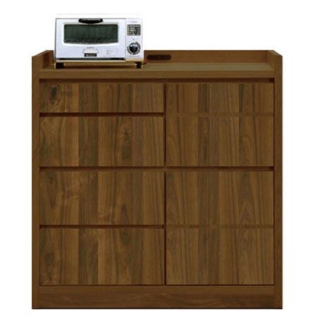 完成品 日本製 キッチンカウンター ソルト ウォールナット 木製 ◆