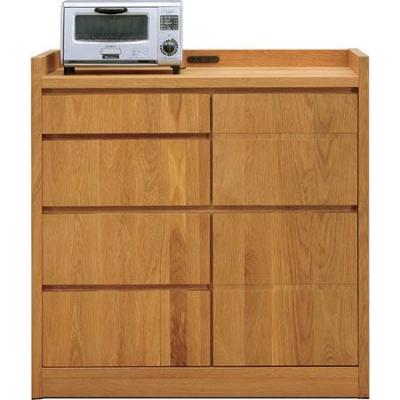 完成品 日本製 キッチンカウンター ソルト ホワイトオーク 木製 ◆