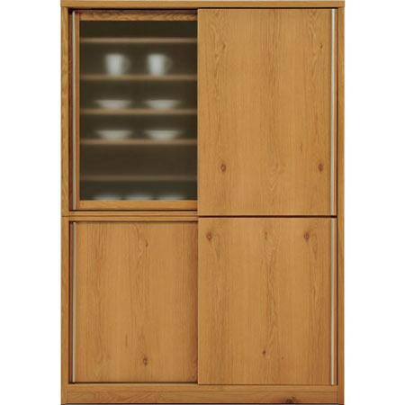 ダイニングボード キッチンボード ソルト 幅138 奥行き49 高さ195 ホワイトオーク 木製 無垢 日本製 国産 完成品 食器棚 キッチンボード salt-db140wo