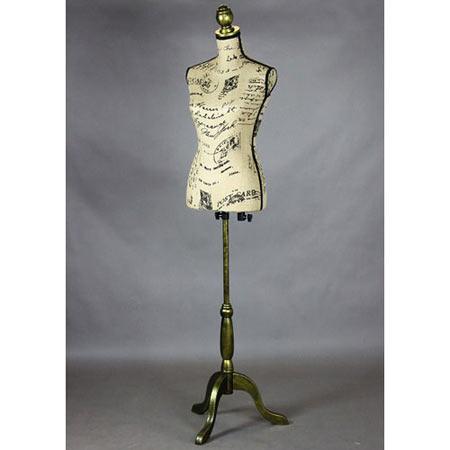 トルソー アンティーク柄 単品 マネキン 縫製 洋裁 ディスプレイ torso-01