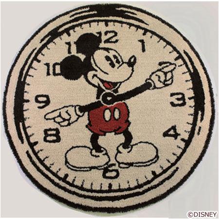 ディズニー Standard Collection ミッキー MICKEY/On the clock! オンザクロック! ラグ DRM-4000-BE<143-37029>