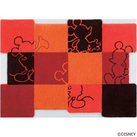 ディズニー Standard Collection ミッキー MICKEY/Patchwork パッチワーク ラグ DRM-4013-R<143-38742>