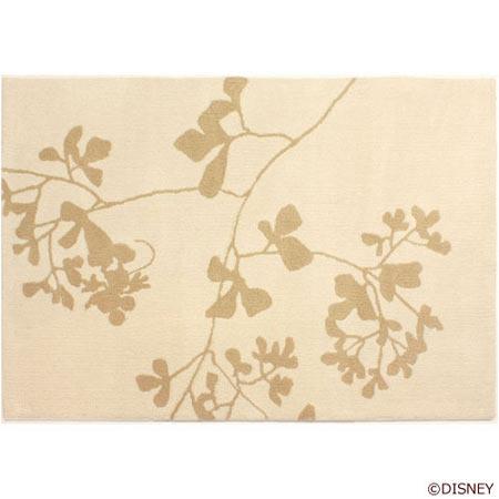 ディズニー Standard Collection ミッキー MICKEY/Twig leaf トウィッグリーフ ラグ アイボリー DRM-4003-I<143-37053>