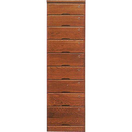 チェスト リード 幅45cm 高さ149cm ダークブラウン