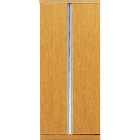 クローゼット デュオ 幅80cm 高さ183cm ナチュラル
