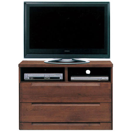 ハイタイプテレビ台 スカーレット 幅106cm 高さ75cm ダークブラウン