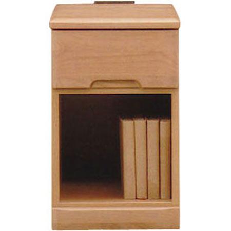 ナイトテーブルチェスト スカーレット 幅30cm 高さ48cm 1段 ナチュラル