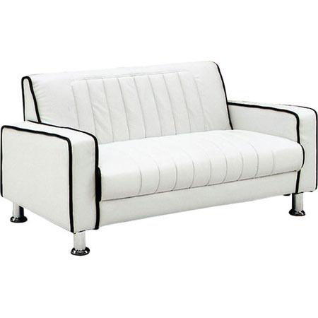 2人掛けソファ 幅126cm 合皮 キララ ホワイト
