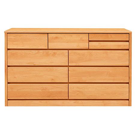 チェスト タンス ティアラ 幅148 奥行き45 高さ88 ナチュラル 木製 日本製 完成品 0002837