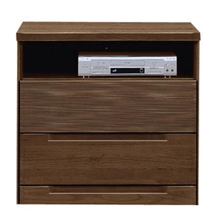 テレビ台 インパクト 幅80 奥行き46 高さ75 ダークブラウン フルオープンレール 木製 日本製 完成品 0003022